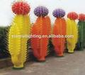 Led de iluminación del árbol, decoración del jardín de cactus led de luces de árbol, de plástico de cactus