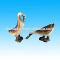 de resina de madera tallada mirada par de resina figuras de pato