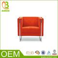 anaranjada sofá simple para la oficina de cuero de PU