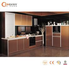 Moderno gabinete de cocina de estilo europeo, resistente al agua de gabinete de la cocina