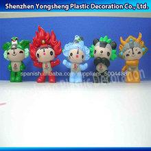 3d de plástico a medida bebé de plástico personajes de dibujos animados