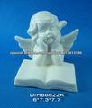 Libro de lectura del ángel de cerámica