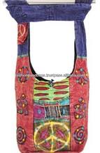 Tie dye adolescente bolsas de hombro, indio hippie bolsos para las niñas