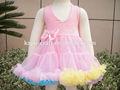 Sin respaldo pequeña princesa vestido de la muchacha, smocked vestido petti