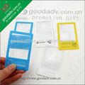 producto caliente de tarjeta de fresnel lupa de vidrio con el logo de oem de tarjetas de pvc lupa