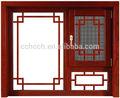a medida de madera marco de la aleación de aluminio ventanas abatibles con antiguos de la ventana de detección