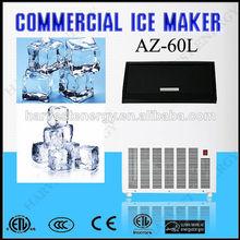 Mini az-60l el flujo de agua del cubo de hielo fabricante de fabricante de/de hielo que hace la máquina/de hielo de la máquina
