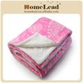burn out tecido adamascado cobertor de flanela com sherpa de volta