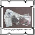 logotipo personalizado impreso bolsas de plástico para las extensiones de cabello envases