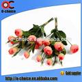 Décoratifs de noël yy-00014 faire arrangement de fleurs de soie artificielle