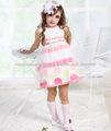 vestidos de listras verão para crianças com belas polka dot doces meninas Jovani vestidos