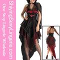 venta al por mayor sexy mal gótico halloween vampiro traje de pareja