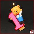 lindo Winnie Pooh velas numéricas
