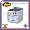 De acero inoxidable estufa de gas con 4 quemador& horno eléctrico