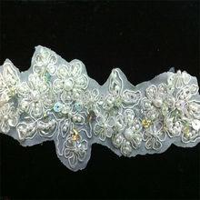 accesoriosdeboda trim hechos a mano con lentejuelas bordado de perlas