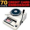 Manual de plástico tarjeta de grabación en relieve de la máquina, pvc de crédito impresora de tarjetas y la máquina de impresión