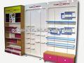muebles de madera para la decoración de la tienda de zapatos