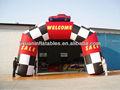 2013 precio barato de carreras de coches alquiler de arco inflable