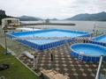 piscina armação de metal ao ar livre / acima de metal piscina terreno