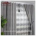 Moderna cortinas para sala de estar, grommet ponto painel da janela, farrah toldo janela stripe painel