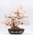 2014 venta caliente rosa de la suerte del árbol de cristal para la decoración