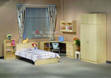 Baratos madeira mobília do quarto conjunto, guarda-roupa e uma cama