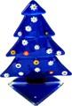 """Azul del árbol de navidad pequeño cristal de murano con"""" murrina"""""""