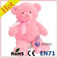 de color rosa simple diseño de oso de peluche personalizados de fábrica
