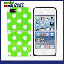 venta al por mayor 2014 polka dot tpu teléfono tapa de la caja del teléfono para iphone5s