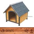 interior e exterior do cão gato de estimação vista da casa de madeira pequena canil cage crate telhado abrigo dfd003