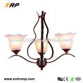 de estilo europeo blanco colgante de vidrio sombra bronce uplight candelabros antiguos