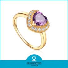 moda púrpura joyas de piedra