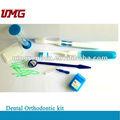 Kit de ortodoncia dental con cepillo de dientes 8 en 1, suministros dentales