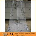 de alta calidad de poliéster flor patrón de cortinas de burnout