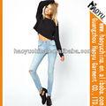 Pantalones vaqueros precio al por mayor baratos skinny jeans pantalones vaqueros de las mujeres de talle alto ( hyw194)