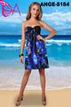ANGELA-8184 bella dama vestido de corto, señora mini vestido