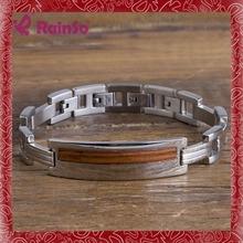 Pulseras de oro con el anillo adjunta s. Imán de acero joyería