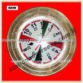 latón reloj mundial
