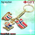 2013 New design of Christmas gold metal keychain with ring