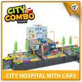 caliente regalo de la promoción de pp y ps material chico juguete de garaje de coches conjunto de juegos para niños