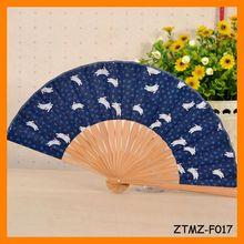 Conejo populares de seda de bambú plegable Fan Wholesale ZTMZ-F017