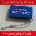 12V batería de litio 1700mAh con PCB y el conector