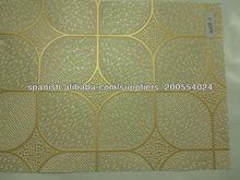 Oro PVC laminado azulejos del techo