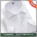 Venta al por mayor para hombre vestido de camisa blanca, hombres de negocios 100% camisas de algodón