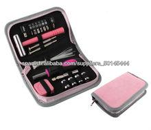 28 pcs Woman Girl Mejor Herramienta Handle Portable Gift Set Juego de herramientas Cute Pink