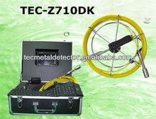 Dvr& teclado, tubo de la línea de inspección de la cámara, máquina de coser de tuberías cámara tec-z710dk