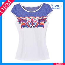 Nueva moda las mujeres impreso t- shirt personalizado t- shirt impresión de prendas de vestir