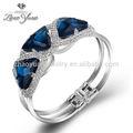 nuevo estilo hecho a mano baratos al por mayor de cristal joyas de oro plateado