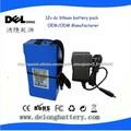 Precio de fábrica OEM / paquete de baterías de iones de litio 10ah ODM DC 12V para la cámara / tira de LED / sistema solar