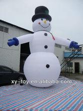 Inflables de navidad/gigante inflable muñeco de nieve de dibujos animados